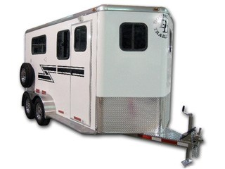 2 Horse Straight Load Bumper Pull Horse Trailers For Sale