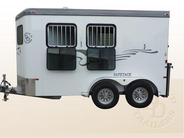 2 horse bumper pull horse trailer