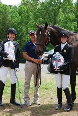 Missy Ransehousen (center) with two of her Paraequestrian students.