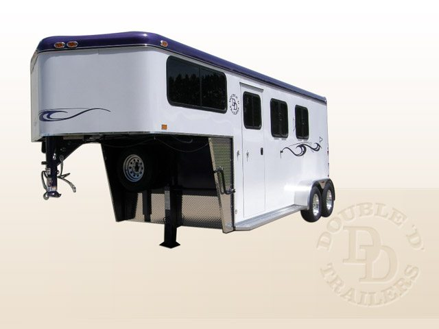 2 Horse Gooseneck Trailer from Double D Trailers.