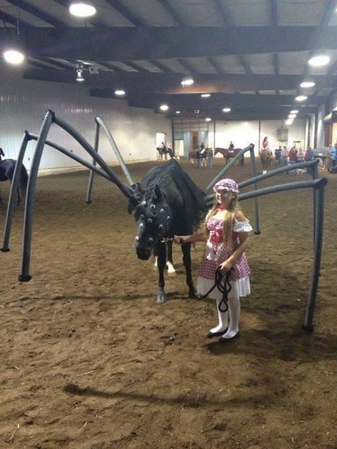 Miss Muffet and Spider Horse Costume