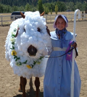 Lil Bo Peep Horse Costume  sc 1 st  Double D Trailers & 25 Horse u0026 Rider Halloween Costume Ideas You Wonu0027t Believe!