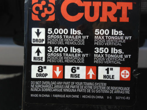 Trailer Tongue Weight label 2