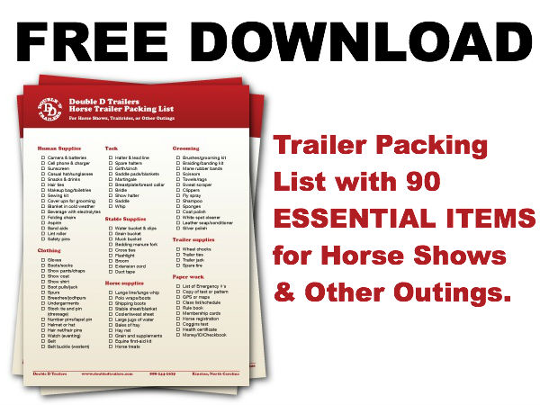 Free download:  Double D Trailers Horse Trailer Packing List