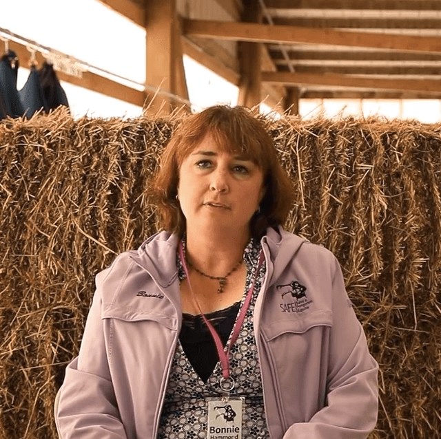Bonnie Hammond is the executive director and cofounder of the SAFE horse rescue.