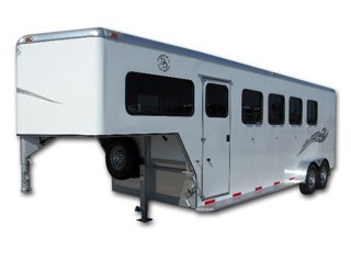 4 Horse Gooseneck Trailer from Double D Trailers