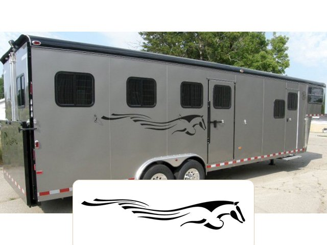 Trail Blazer Horse Trailer With Living Quarters For Sale - Decals for trucks customizedhorse decals horse stickersgraphics for horse trailers