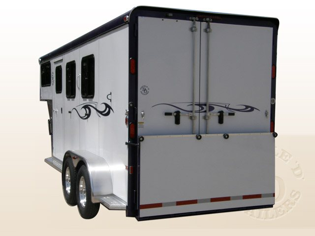 Safetack Two (2) Horse Gooseneck Trailer 9089-009