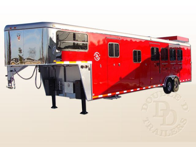 Living Quarter Horse Trailer with 12 ft short wall 4988