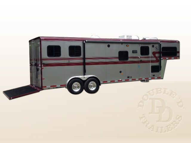 Living Quarter Horse Trailer with 12 ft short wall image1