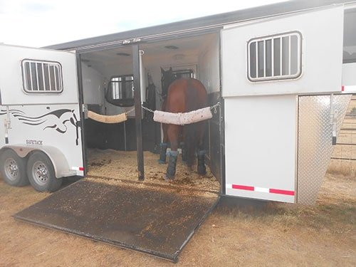 slant load horse trailer