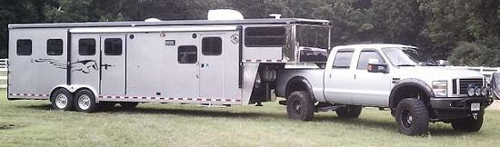 living quarters horse trailer